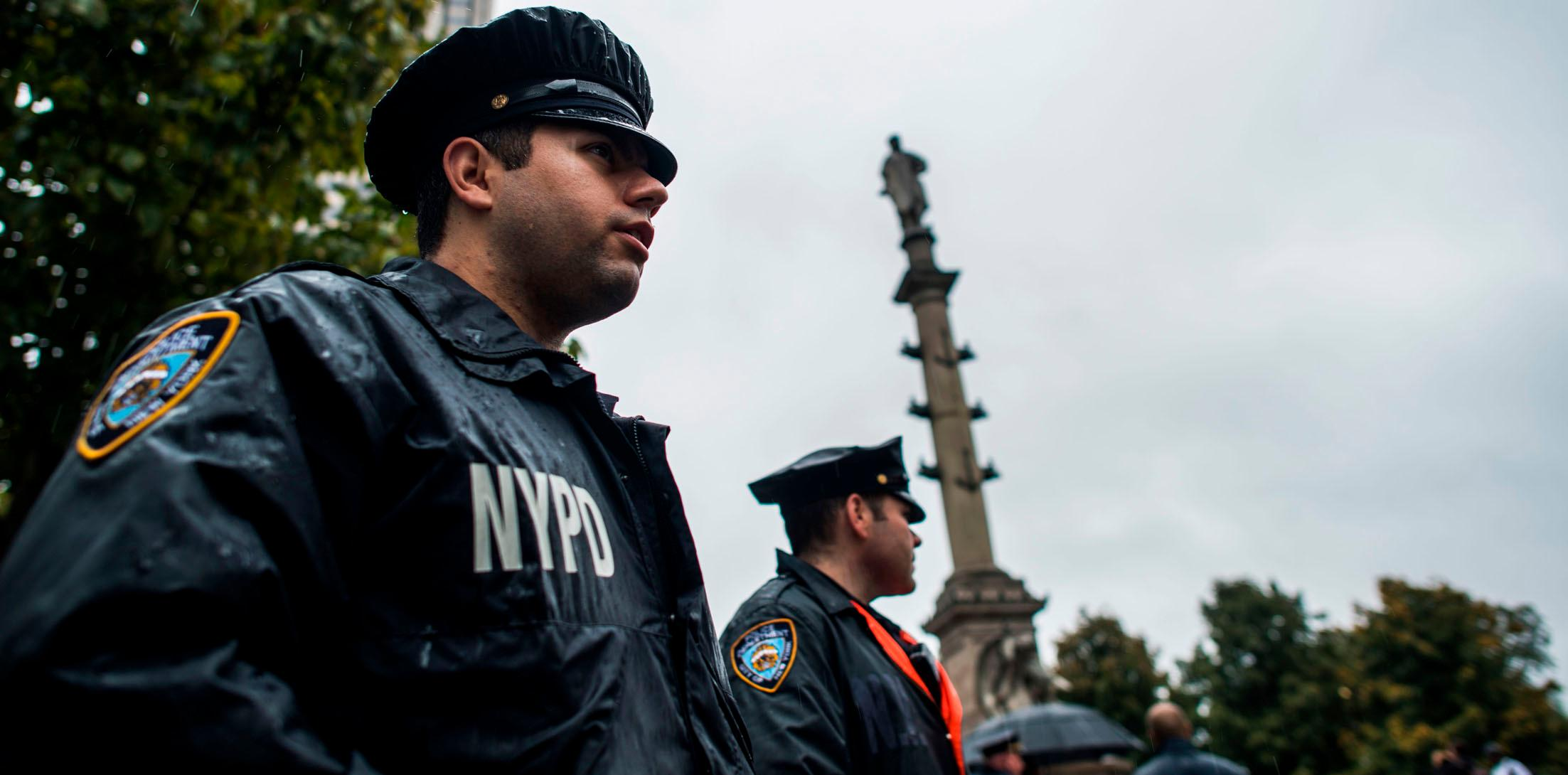 US COLUMBUS DAY PROTEST SECURITY
