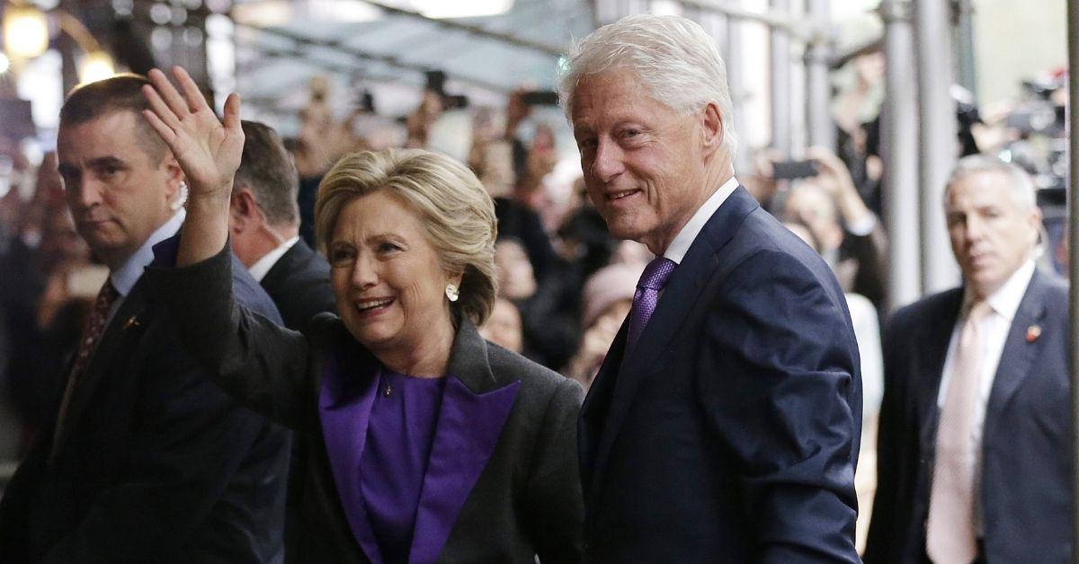 hillary clinton visits husband bill clinton hospital
