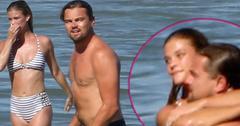 leonardo dicaprio dating nina agdal model girlfriend beach shirtless bikini