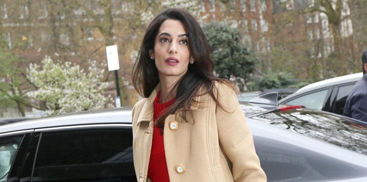 Amal Clooney Baby Bump Pics