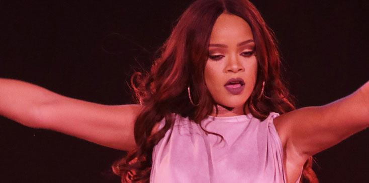 Rihanna performs a sold out gig at Meazza stadium in Milano, Italy.