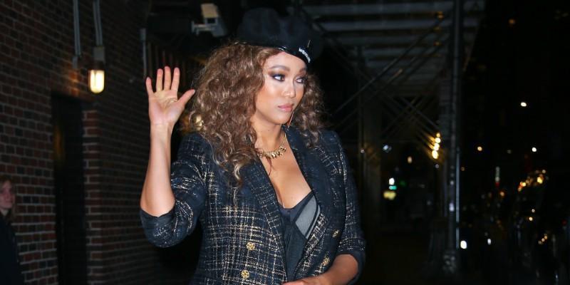 Tyra Banks Suffers Wardrobe Malfunction On DWTS