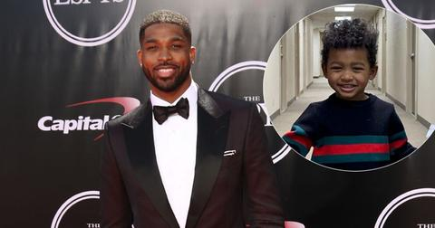 Tristan Thompson On Red Carpet Son Prince Inset