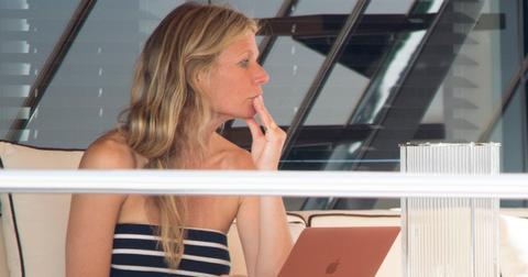 Gwyneth Paltrow spotted on a yacht in Capri with boyfriend Brad Palchuk