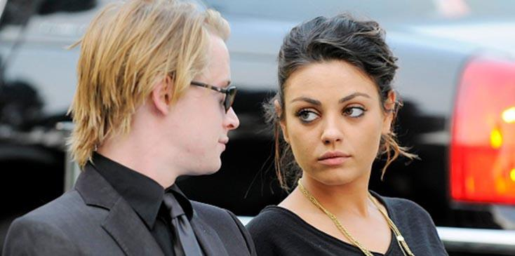 Mila kunis responsible for breakup with macaulay culkin