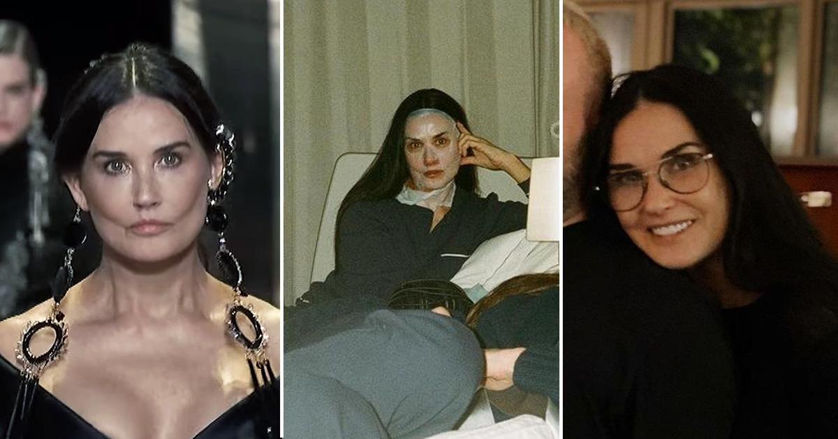 demi moore face looks different instagram fans notice pf