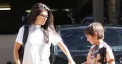 Kourtney Kardashian takes her son to his weekly art class
