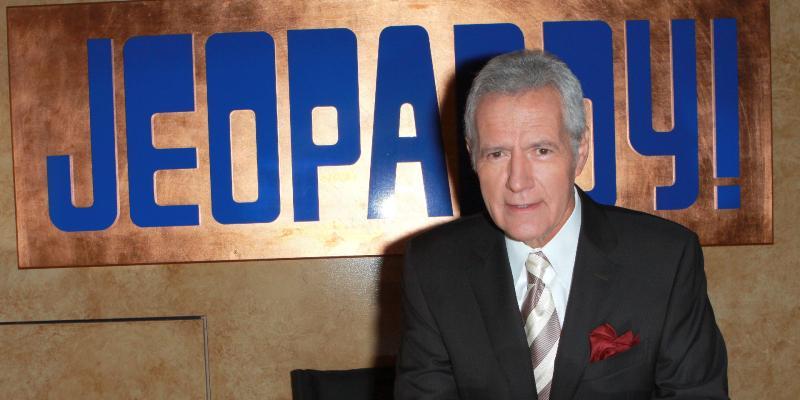 Alex Trebek at ''Jeopardy!'' Hall of Fame Ribbon Cutting Ceremony