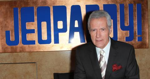 Alex Trebek at ''Jeopardy!'' Hall of Fame Ribbon Cutting Ceremony