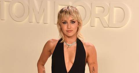 Miley Cyrus at the Tom Ford AW20 show