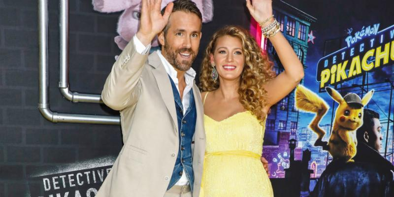 Blake Lively was radiant in a yellow Pikachu-inspired Retrofête Rebecca while hubby Ryan Reynolds sported a khaki suit (complete with a denim vest!) at his Pokémon: Detective Pikachu premiere.