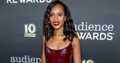 Kerry washington red leather derss slit up to there main