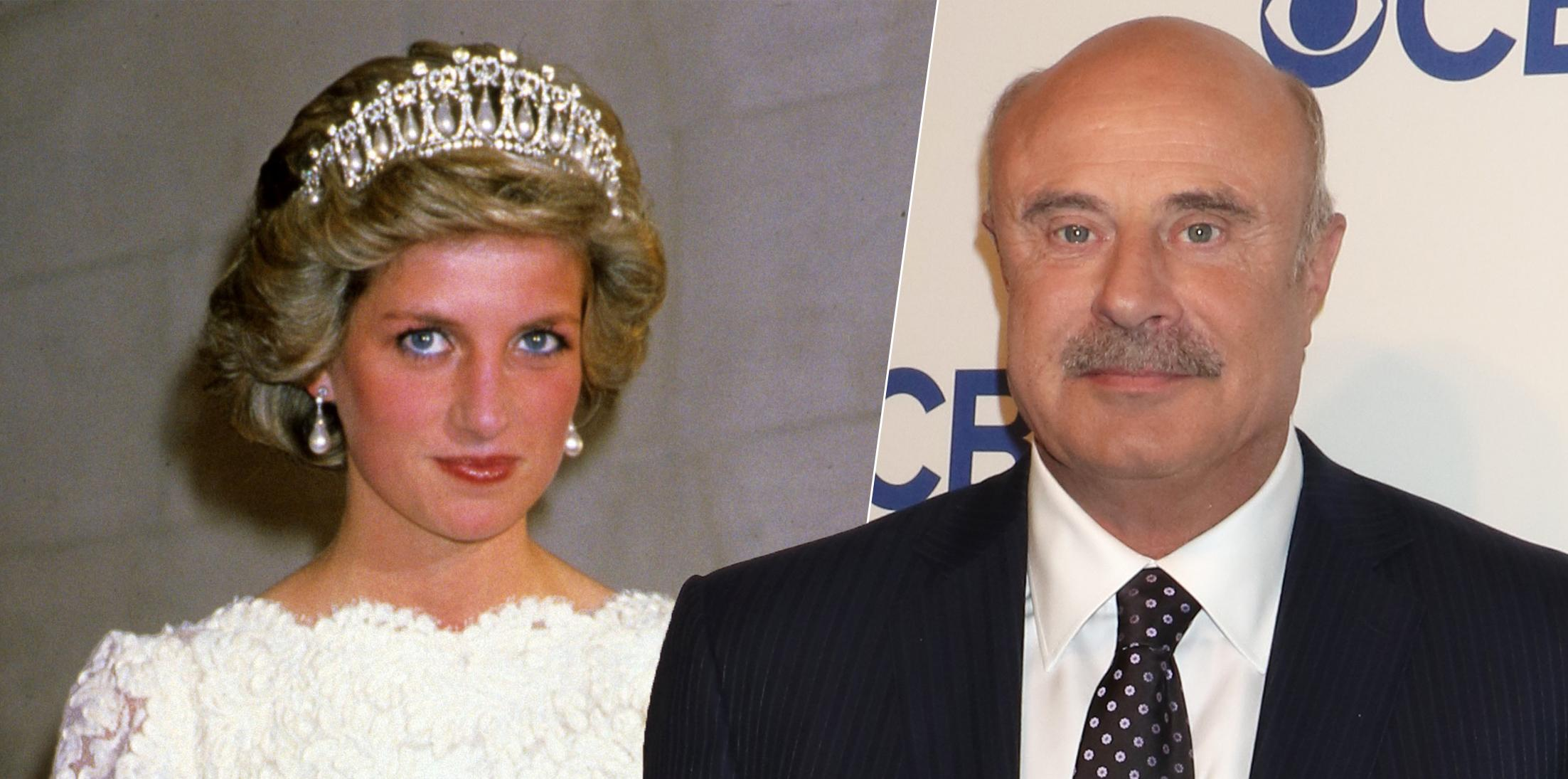 Left, Princess Diana attends Royal 5 Day Tour in America. Right, Dr. Phil McGraw attends CBS Network 2016 Upfront Presentation, New York, America - 18 May 2016