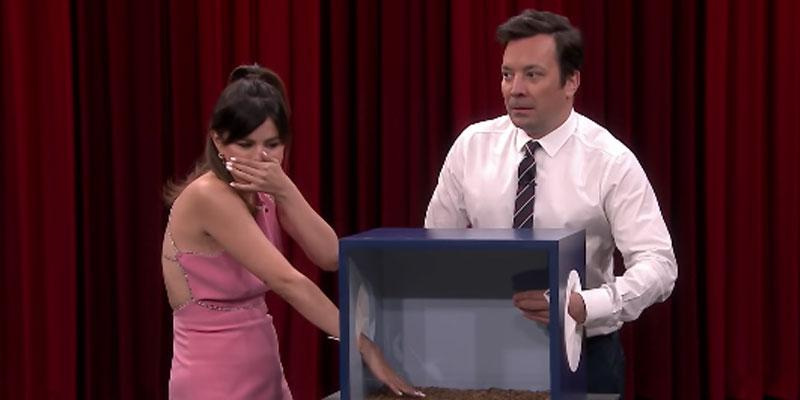Selena Gomez & Jimmy Fallon Touch Gross Mysterious Things
