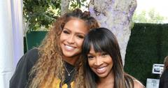Malika Haqq And Cassie At An Event Pregnant Baby Shower