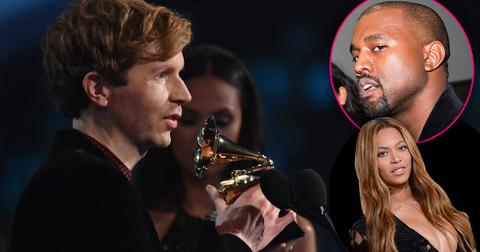 Kanye west disses beck for beating beyonce grammy awards 2015 09