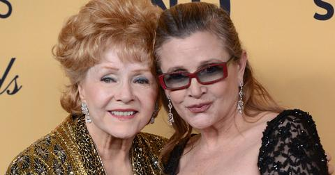 Debbie Reynolds and Carrie Fisher at the 21st Screen Actors Guild Awards in Los Angeles
