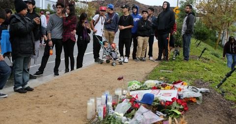 Fans gather at the spot where Paul Walker died in a fiery crash one year ago today in Santa Clarita