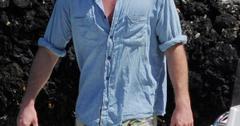 Liam Hemsworth on a boat in Portofino