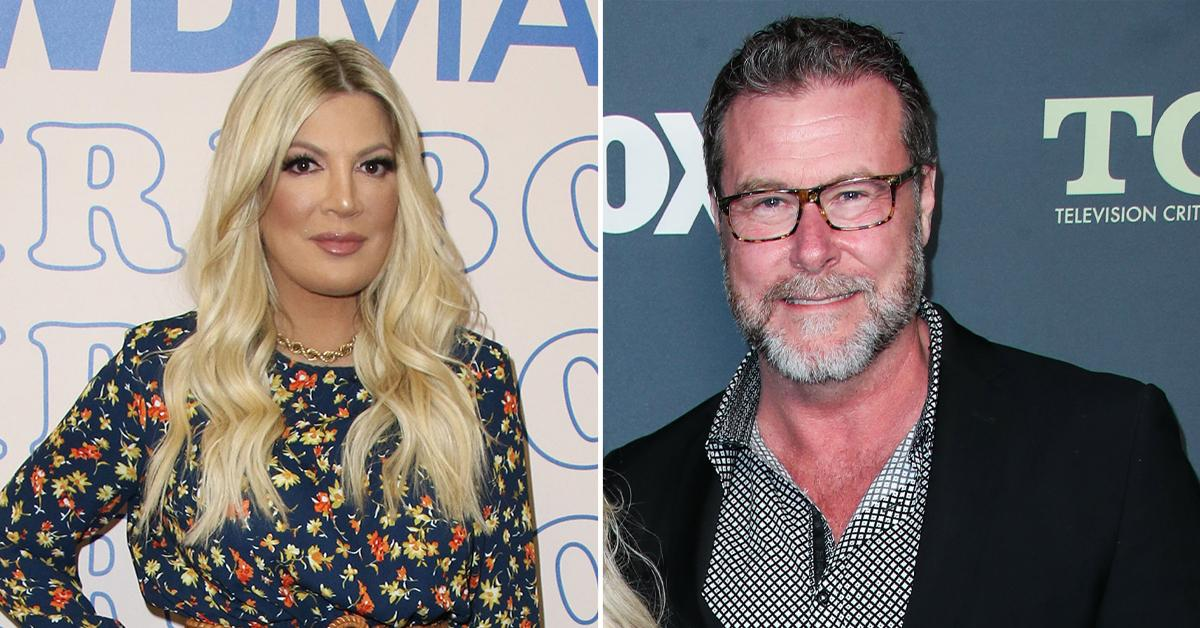 tori spelling girls night wine husband dean mcdermott ditches ring spotted mystery blonde pp