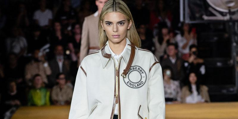 Kendall Jenner Blonde Burberry Show London Fashion Week