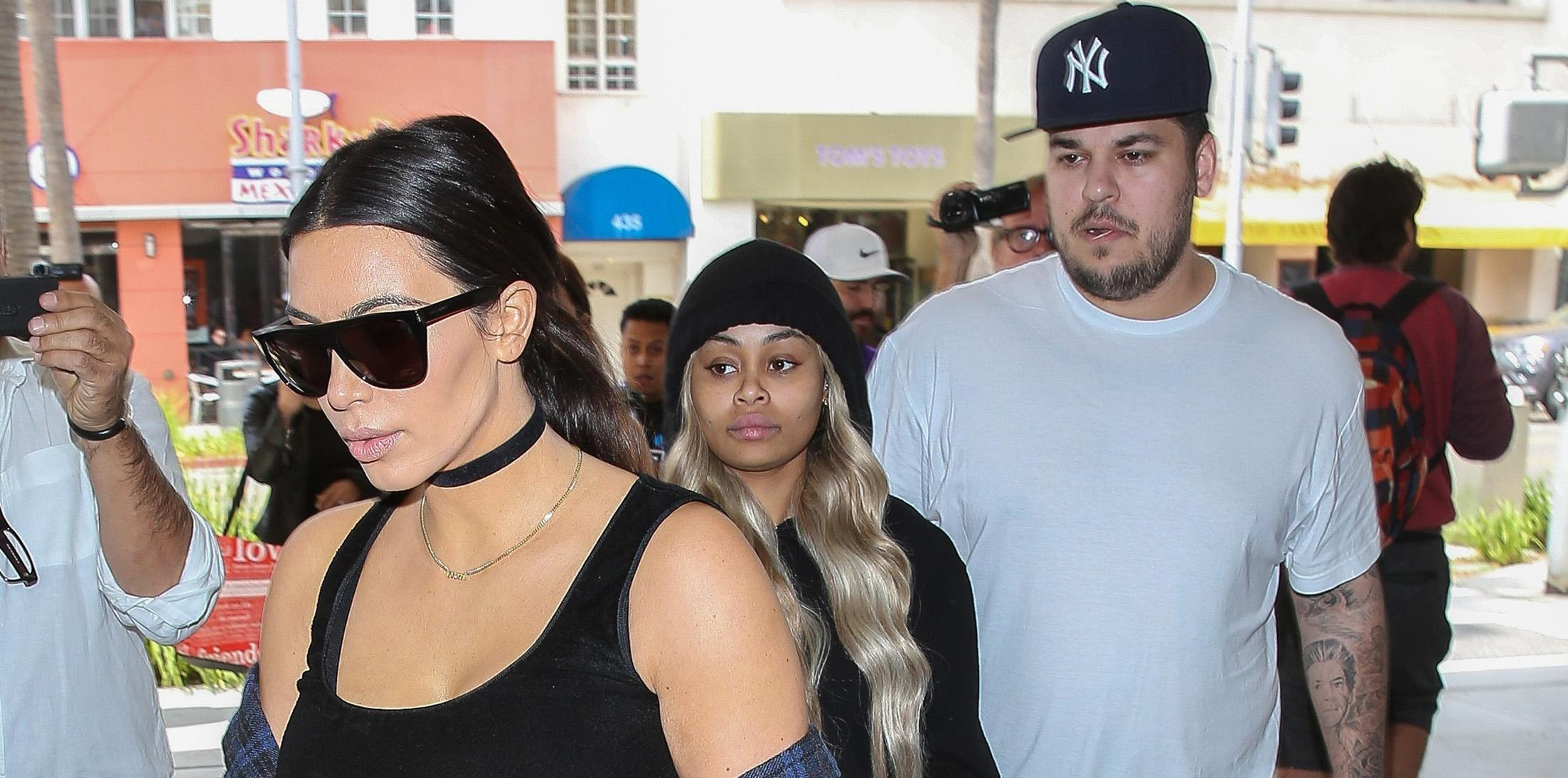 Kim Kardashian does brunch with brother Rob and Blac Chyna