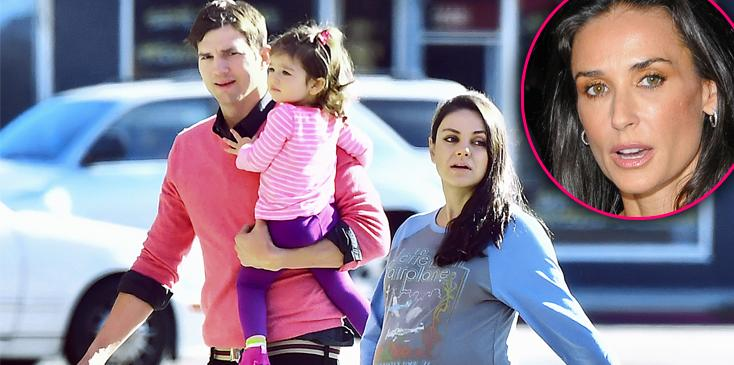 Ashton kutcher divorce demi moore baby with mila kunis h