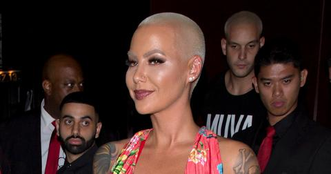 Amber Rose arrives at Peppermint Night club in L.A.