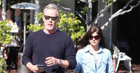 Selma Blair and her boyfriend have lunch at Fred Segal