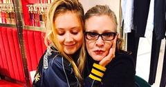 billie lourd mom carrie fisher mothers day pic pp
