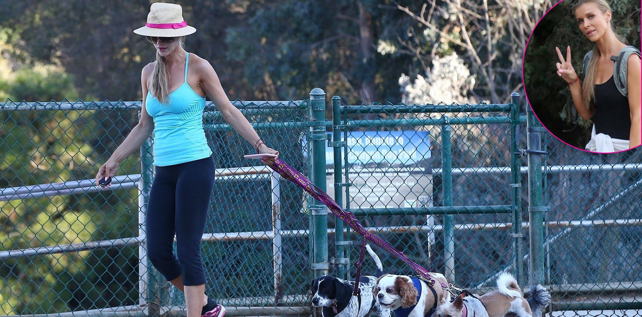 *EXCLUSIVE* Joanna Krupa takes her dogs to the dog park