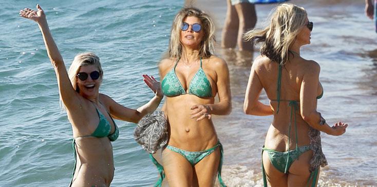 Fergie bikini abs boobs butt milf ok hero