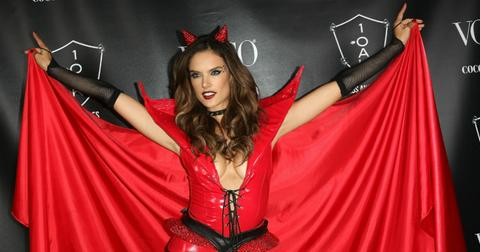 Alessandra Ambrosio was the devil at her own Halloween bash.