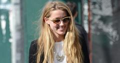 A happy Amber Heard goes shopping in NYC