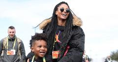 Ciara & Son Future Support Russell Wilson At His Football Practice