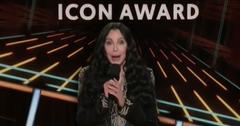 Singer Cher introducing Garth Brooks for Icon Awrd at the 2020 Billboard Music Awards