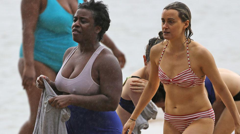 Taylor Schilling Bikini OITNB Orange New Black Uzo Aduba