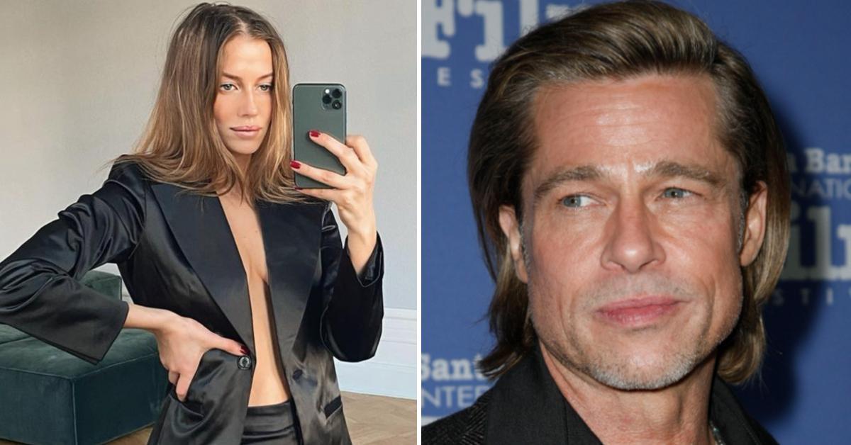 Brad Pitt's German Fling Nicole Poturalski Flaunts Bump As It's Revealed She's In An 'Open Marriage'
