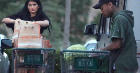 *EXCLUSIVE* Kylie Jenner and boyfriend Tyga load up on groceries before 4th of July