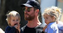 EXCLUSIVE: *NO MAIL ONLINE* Actor Chris Hemsworth and wife Elsa Pataky take their children to the local markets in Australia