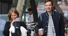 Jimmy Fallon with his family in New York
