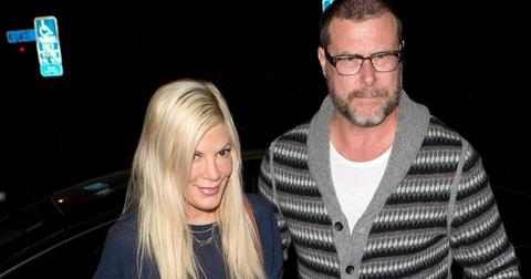 Tori Spelling and Dean McDermott were seen arriving for dinner at 'Cecconi's' Restaurant in West Hollywood, CA