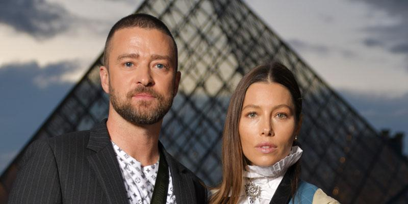 Justin Timberlake And Jessica Biel At Paris Fashion Week