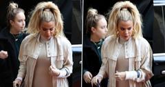 Khloe kardashian growing baby bump ok pp