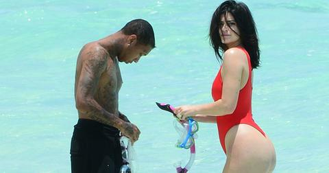*EXCLUSIVE* Kylie Jenner puts her Baywatch Birthday Suit on for Tyga
