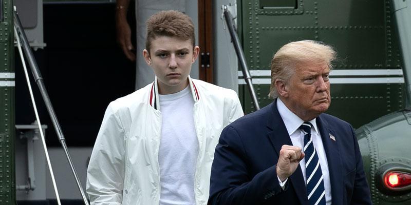 Donal Trump and son Barron Trump Covid