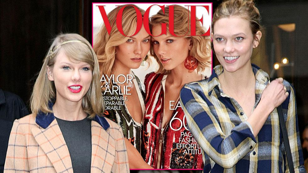 Taylor swift karlie kloss cover of vogue