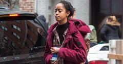 Malia Obama Arriving At The Weinstein Company Office In NY