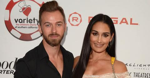 Artem Chigvintsev And Nikki Bella On Red Carpet