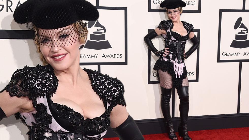 Madonna 2015 grammy arrivals